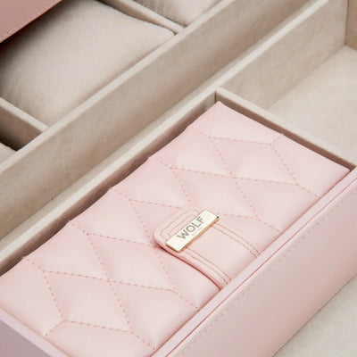 Wolf 329515 Caroline Extra Large Jewellery Case Rose Quartz