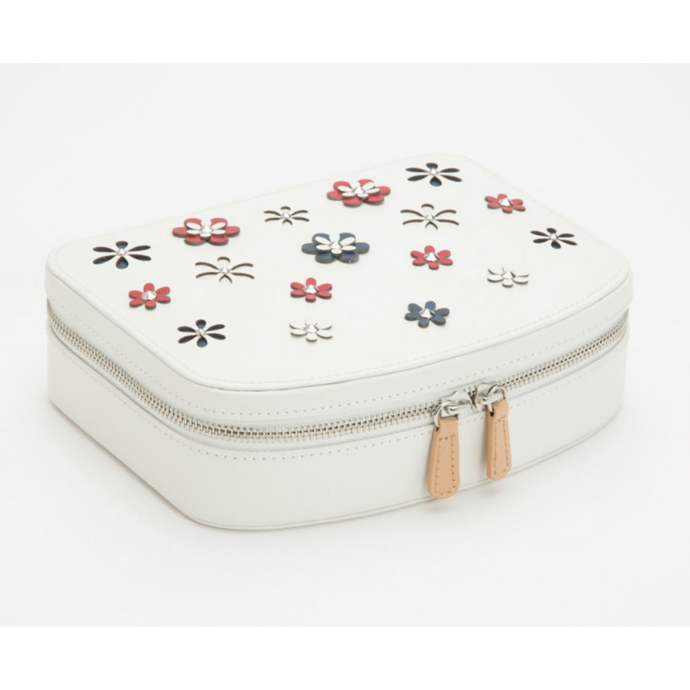 Wolf Blossom Travel Zip Jewellery Case