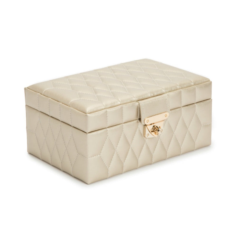Wolf Caroline Small Jewellery Case - Champagne