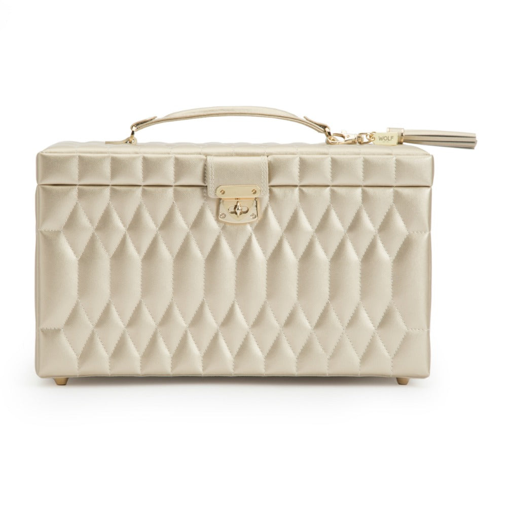 Wolf Caroline Large Jewellery Case - Champagne