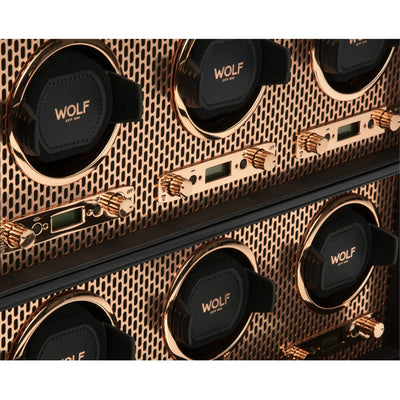 WOLF 469616 Axis 6 Piece Watch Winder Copper