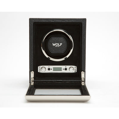 Wolf 461720 Exotic Single Watch Winder Black Leather