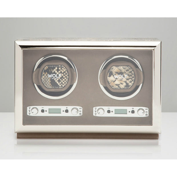 Wolf 461822 Exotic Double Watch Winder Tan Leather
