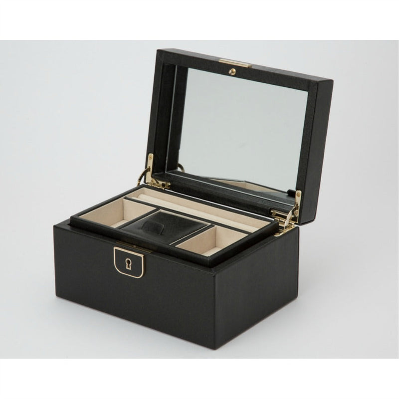 WOLF 213102 Palermo Small Jewellery Box Black Anthracite