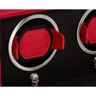 Wolf 493272 Memento Mori Cub Double Watch Winder Red