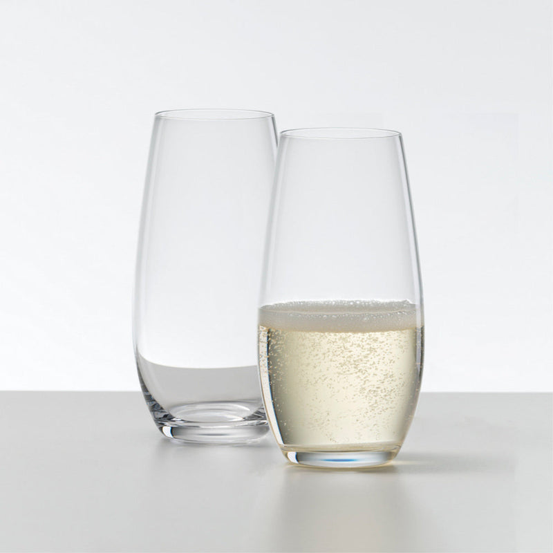 Riedel Fine Crystal O Wine Tumbler Champagne Set of 2