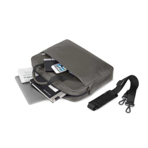 Moleskine Classic Slim Briefcase - Mud Grey