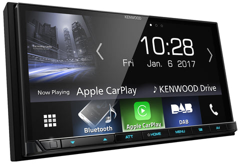 "Kenwood DMX7017DABS 7"" System med DAB, Apple CarPlay & Android Auto"