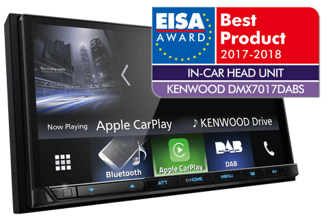 "Kenwood DMX7017DABS 7"" System med DAB+, Apple CarPlay & Android Auto"