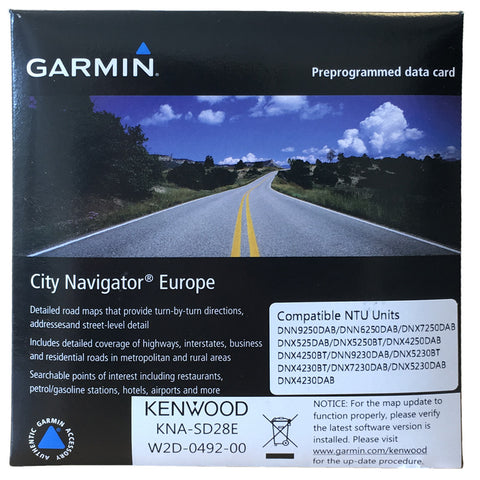 Kenwood/Garmin 2016 Navigationskort SD28E