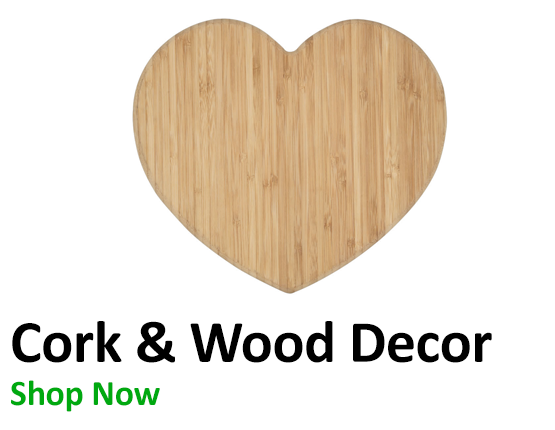 Cork Pinboards and Wooden Cut Outs