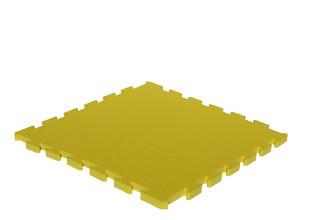 15mm Thick Yellow Interlocking Foam Mat 500mm x 500mm