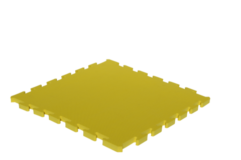 15mm Thick Yellow Interlocking Foam Mat 1m x 1m