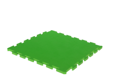 15mm Thick Green Interlocking Foam Mat 1m x 1m