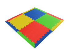 15mm Thick Interlocking Mat Mixed Colours 1m x 2m Kit (8 Mat Pack)