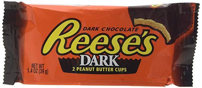 Reese's Dark Peanut Butter Cups 1.37 OZ (39g) Display of 24