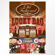 London Bus Old Fashioned Lucky Bag Case of 25