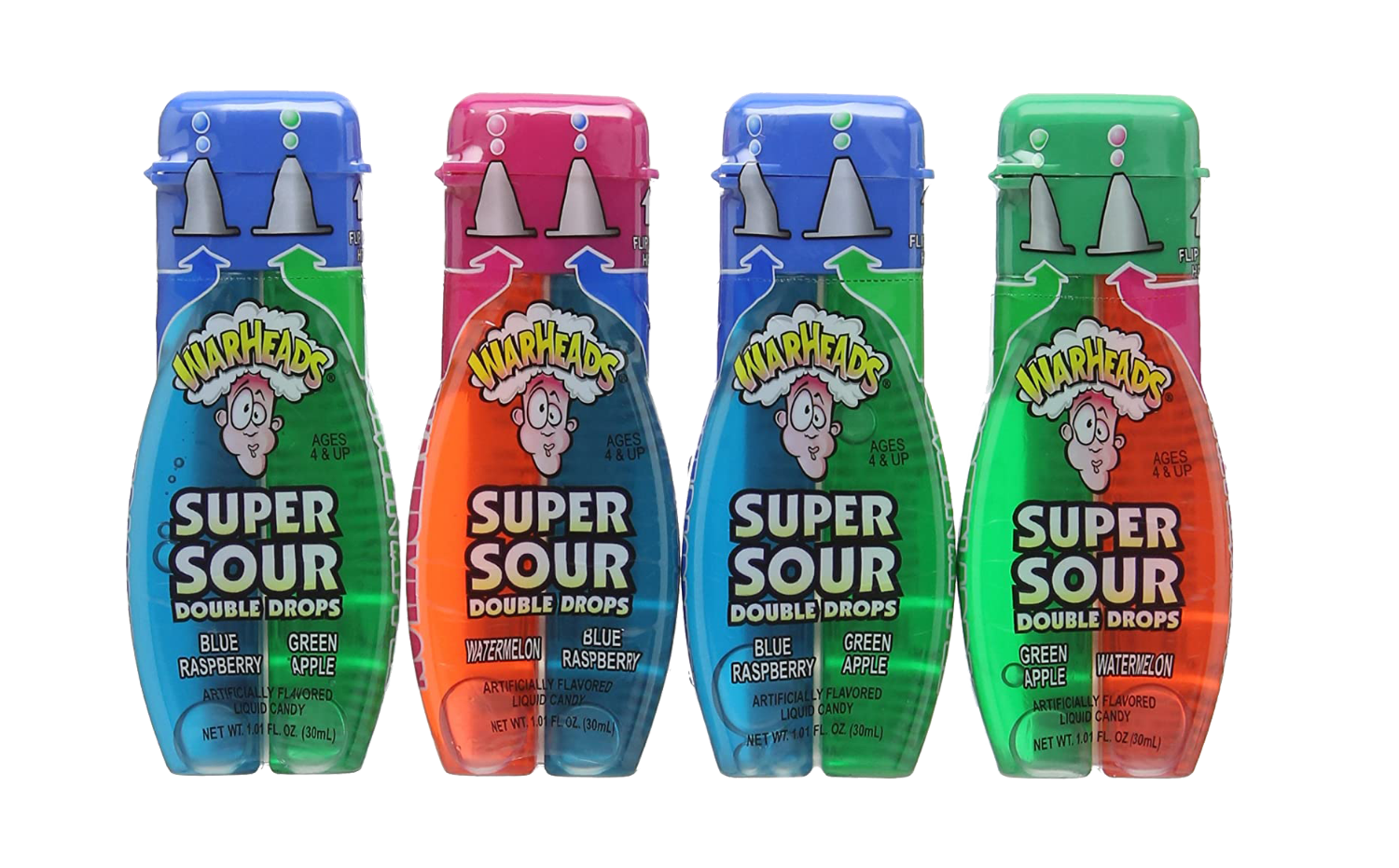 Warheads Double Drops Liquid 1oz Case of 24