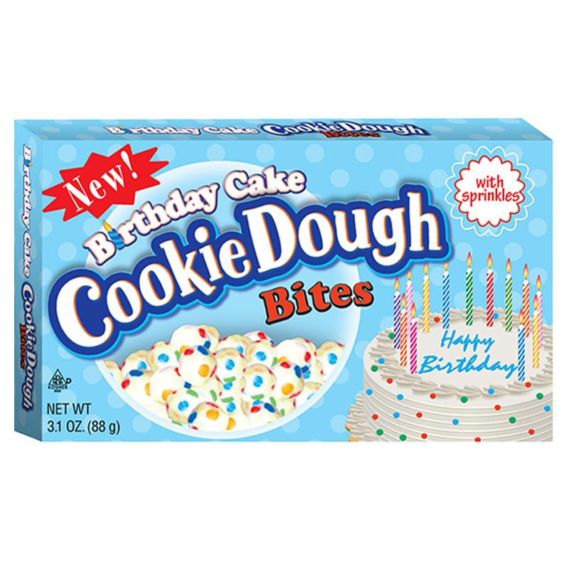 Birthday Cake Cookie Dough Bites 12 Theatre Boxes 3.1oz