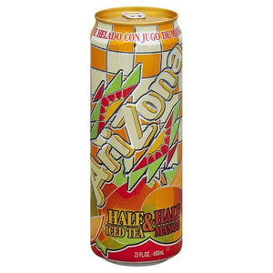 AriZona Tea Mango half & half 23OZ Can (680ml)