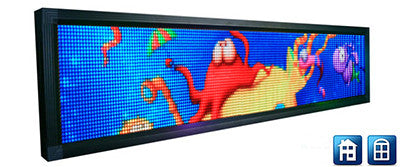 P4 Screen - 32 x 192 pixels - 848 x 208mm