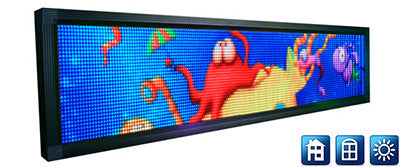 P6 Screen - 32 x 192 pixels - 1232 x 272mm