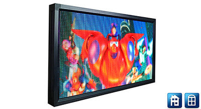 P4 Screen - 64 x 128 pixels - 592 x 336mm
