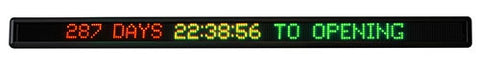Window COUNTDOWN CLOCK - 1585mm x 110mm - 7 x 200 pixels
