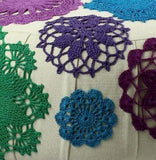 MULTICOLOR FLOWERS ( GREEN - BLUE - PURPLE )_FIRST