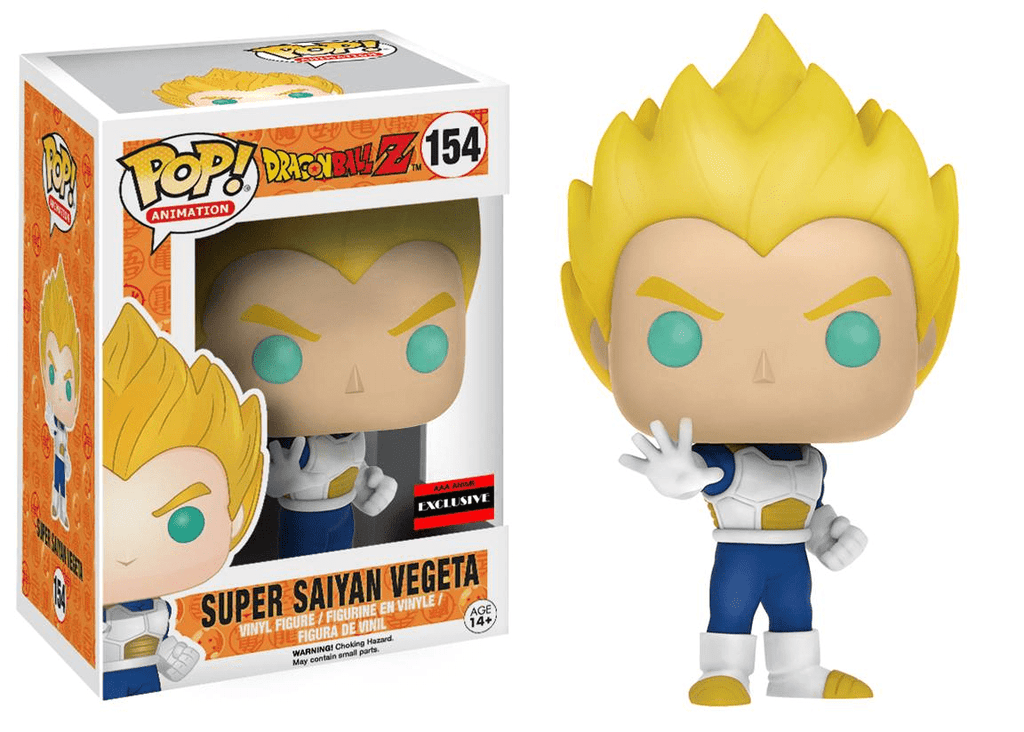 Funko Pop! Animation- Dragonball Z Super Saiyan Vegeta 154 AAA Exclusive  (Buy  Sell  Trade )