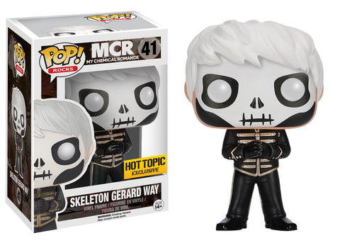 Funko Pop! Rocks: My Chemical Romance - Skeleton Gerard Way 41 Hot topic Exclusive (Buy. Sell. Trade.)