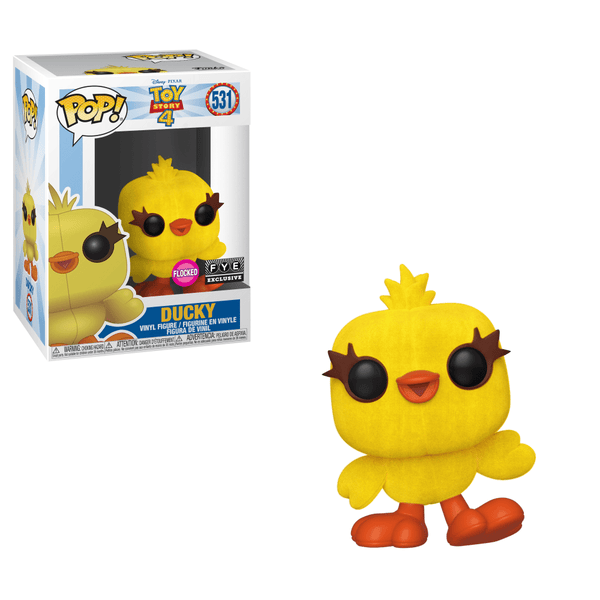 Funko POP! Disney: Toy Story 4 - Ducky (Flocked) 531 FYE Exclusive (Buy. Sell. Trade.)