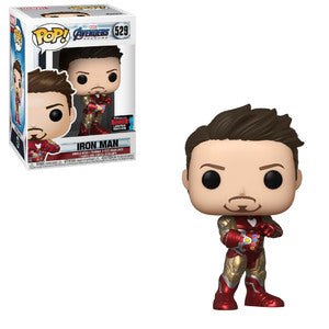 Funko Pop! Marvel: Avengers Endgame - Iron Man 529 Fall Convention 2019 Exclusive Shared Sticker( Buy. Sell. Trade)