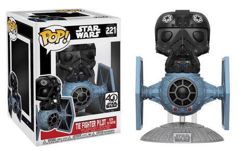 POP! Star Wars EP8 The Last Jedi Tie Fighter With Tie Pilot