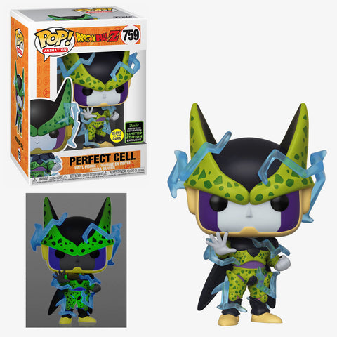 Funko POP Animation Dragon Ball Z - Perfect Cell 759 (GITD) Hot topic Exclusive (Shared Sticker)(Buy. Sell. Trade.)