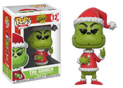 Funko Pop! Books: The Grinch- Santa Grinch and Max Set of 2