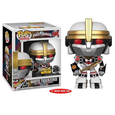 "Funko Pop! Television: Power Rangers - White Tigerzord 6"" Hot Topic Exclusive (Buy. Sell. Trade.)"