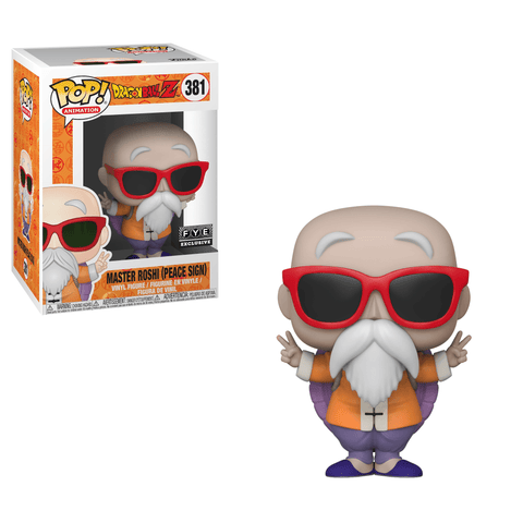 Funko Pop! Animation: Dragon Ball Z Master Roshi Peace Sign 381 FYE Exclusive (Buy. Sell. Trade.)