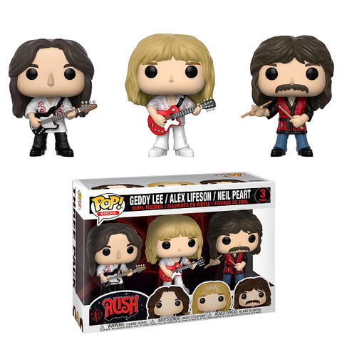 Funko POP! Rocks: Rush - Geddy, Alex, Neil 3 Pack