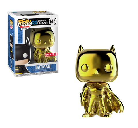 Funko Pop! Heros Gold Chrome Batman with Tee Large Exclusive (Buy. Sell. Trade.)
