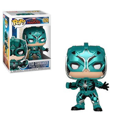 Funko POP! Marvel: Captain Marvel- Star Commander