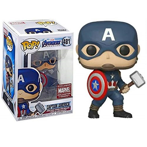 Funko Pop! Marvel Avengers Endgame Captain America Collector Corps Exclusive (Buy. Sell. Trade.)