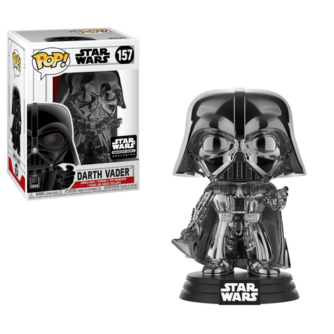 Funko Pop! Movies: Star Wars - Darth vader Chrome 157 Smuggle's Bounty Exclusive (Buy. Sell. Trade.)