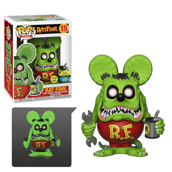 Funko POP! Icons Ratfink- Rat Fink Glow In The Dark Toy Tokyo SDCC 2019 (Buy. Sell. Trade.)