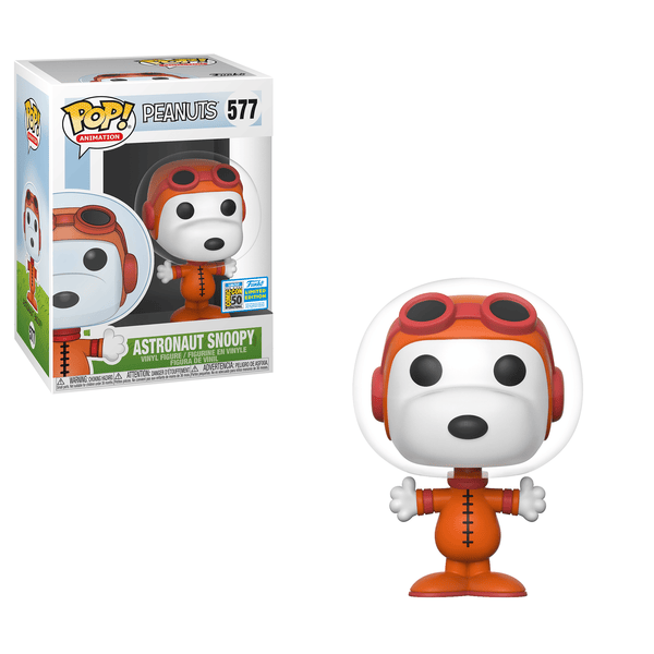 Funko POP! Animation Peanuts- Astronaut Snoopy 577 San Diego Comic Con Sticker (Buy. Sell. Trade.)