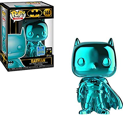 Funko POP Heroes Batman 144 Teal Chrome 2019 Summer Convention (Buy. Sell. Trade.)