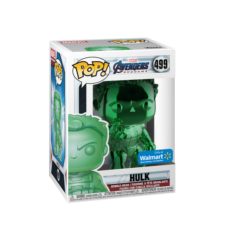Funko POP! Marvel: Avengers End Game Green Chrome Hulk 499 Walmart Exclusive (BUY.SELL.TRADE)