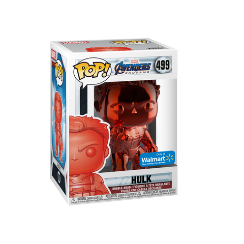 Funko POP! Marvel: Avengers End Game Red Chrome Hulk Walmart Exclusive (BUY.SELL.TRADE)