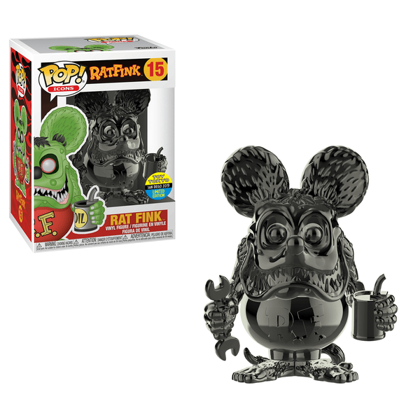 Funko POP! Icons Ratfink- Rat Fink Black Chrome Toy Tokyo SDCC 2019 (Buy. Sell. Trade.)