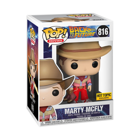 Funko Pop Movies Back to the Future Marty Mcfly Hot Topic Exclusive 816 w. protector (Buy. Sell. Trade.)